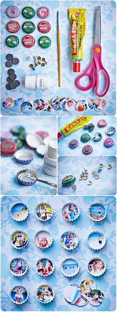 DIY Project Tutorial: Bottle Cap Photo Frames via Craft and Creativity