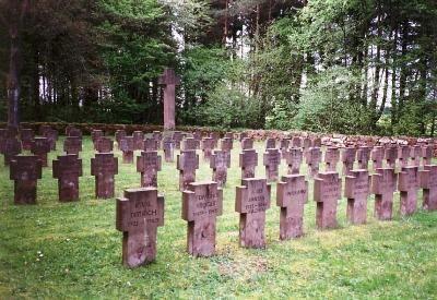 Duitse Soldaten begraven Andeldorf Duitsland