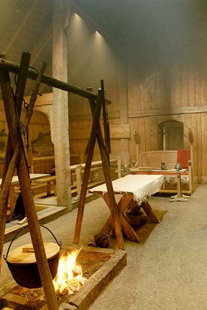 Replica of a Viking Long House (Interior). Hmmm? Maybe, I could have lived comfortably.
