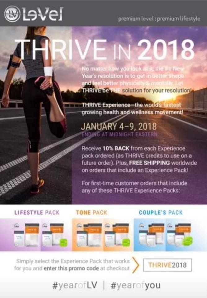 free shipping u0026 10 back into their account for future orders in the form of credits must use the promo code thrive2018 create your free account