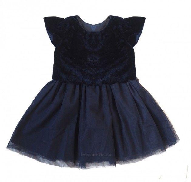 Blå Salto velourkjole til baby   DressMyKid.no - Barn og baby - Alltid gode tilbud