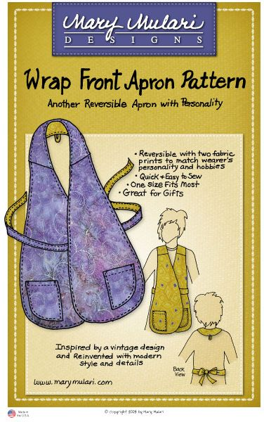 Mary Mulari's Wrap Front Apron Pattern