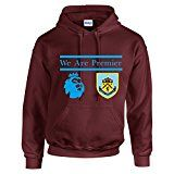BURNLEY FC BADGE 2015-2016 CHAMPIONS WE ARE PREMIER THE CLARETS FOOTBALL HOODIE TOP