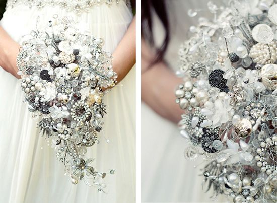 Vintage Jewellery Wedding Bouquets : Best images about wedding bouquet on