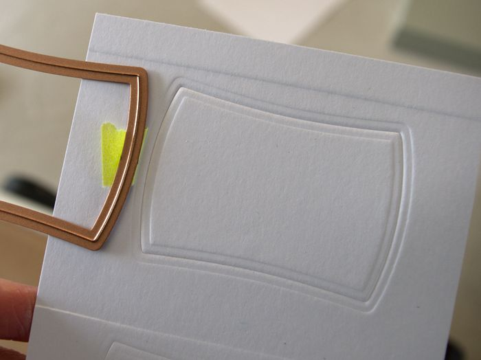 Tutorial for embossing nestabilities frames onto card instead of cutting card.