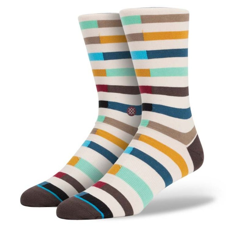 Stance | Data Mint, Multi, Natural, Red, Yellow, Grey socks | Buy at the Official website Main Website.