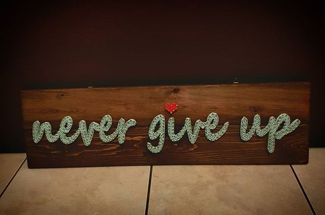 #stringart#handmade#wood#art#instaart#nevergiveup#quotes#etsy#pinterest#mint#red#heart#love#gift