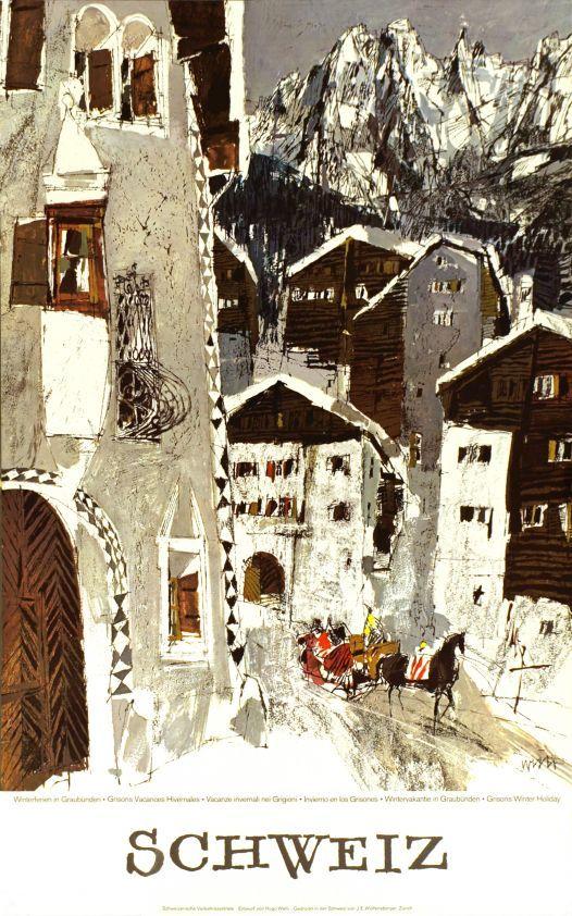 Winterferien in Graubünden, Schweiz