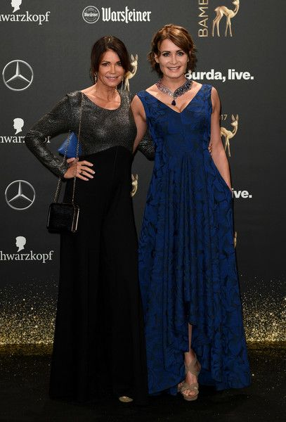 Gerit Kling (L) and Anja Kling arrive at the Bambi Awards 2017 at Stage Theater on November 16, 2017 in Berlin, Germany.