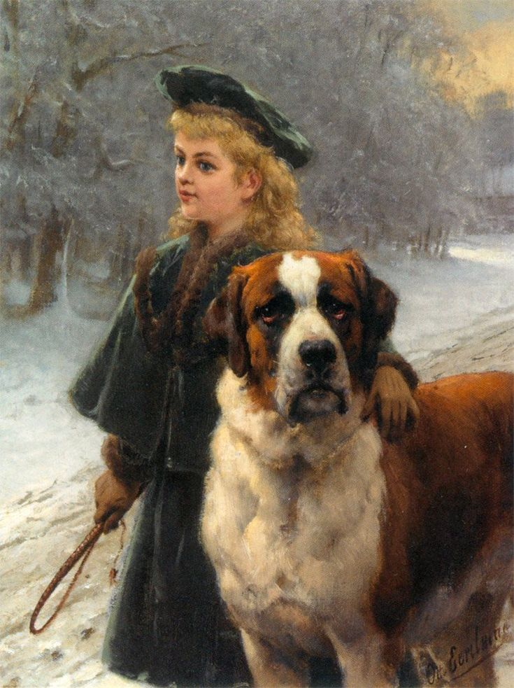 In The Snow | Otto Erelman | oil painting
