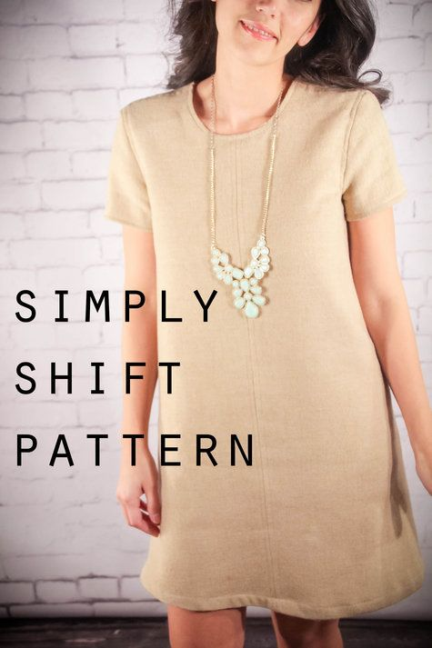 Simply Shift Dress with Pattern