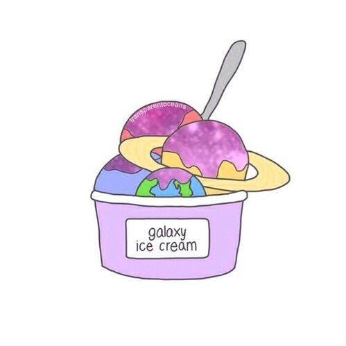 Image via We Heart It https://weheartit.com/entry/131521333/via/13802995 #cute #food #galaxy #icecream #love #overlays #transparents