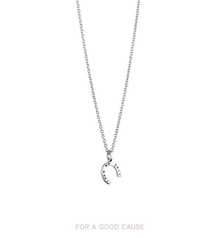 Take No Shit Pendant - Silver - Halsband - Efva Attling