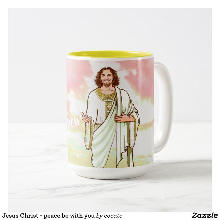Jesus Christ - peace be with you Two-Tone Coffee Mug