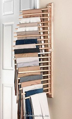 Wall mounting Pants Pant Closet Organization Rack of Collections Etc.