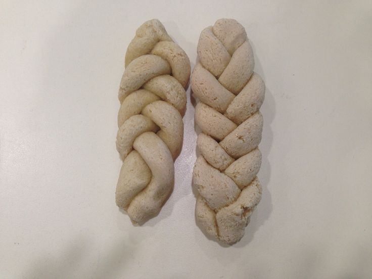 Challah made from salt dough and then baked.