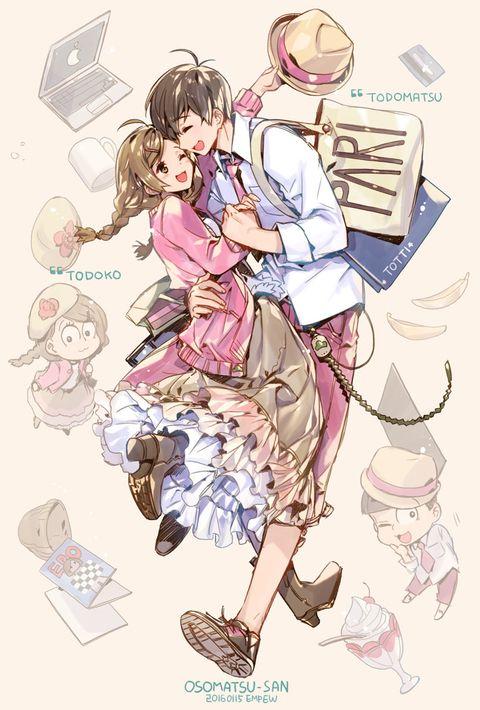 Osomatsu-san- Todomatsu and Todoko #Anime「♡」