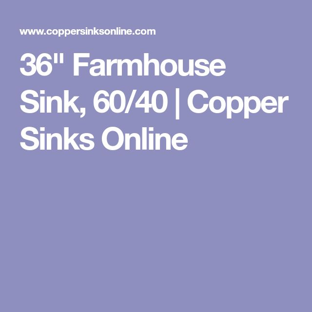 "36"" Farmhouse Sink, 60/40 