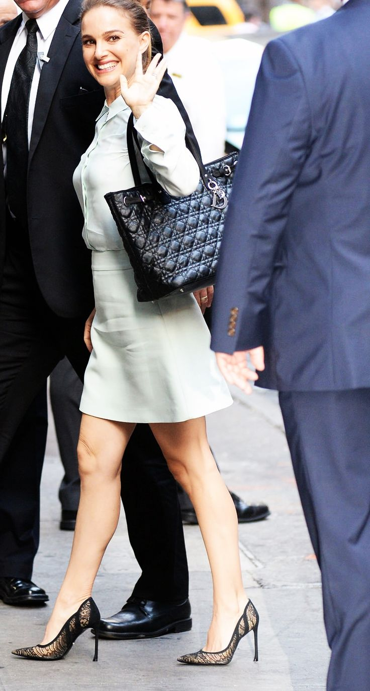 Natalie Portman arriving at ABC's Good Morning America this morning.