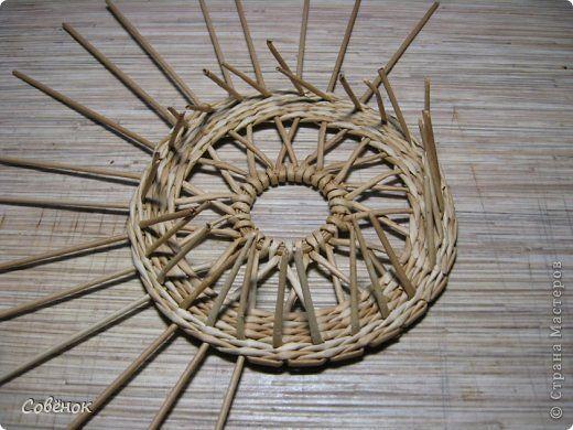 Мастер-класс Поделка изделие Плетение Плетёнки из бумаги Бумага газетная Трубочки бумажные фото 18