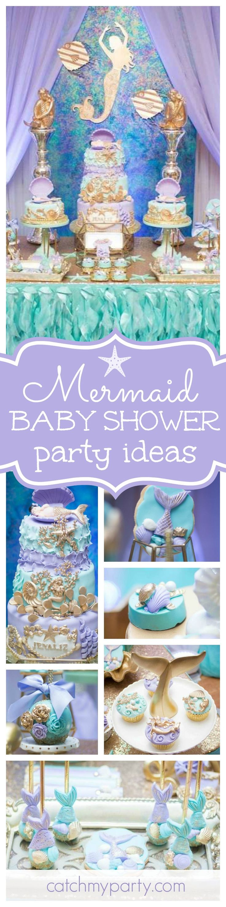 You don't want to miss this 'Awesome under the sea Mermaid Baby Shower'! The cake is amazing!! See more party ideas and share yours at CatchMyParty.com