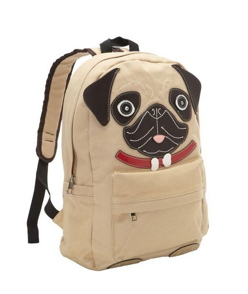 Now pack up all your new items in this backpack! | Community Post: 19 Perfect Gifts For The Pug Lover In Your Life