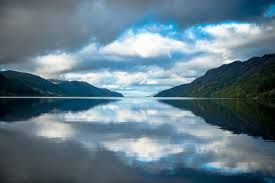 Loch Ness - the fabled home of the Loch Ness Monster 'Nessie'. It is the largest lake in Scotland by volume at over 20 miles long, approx a mile wide and 700 feet at its deepest