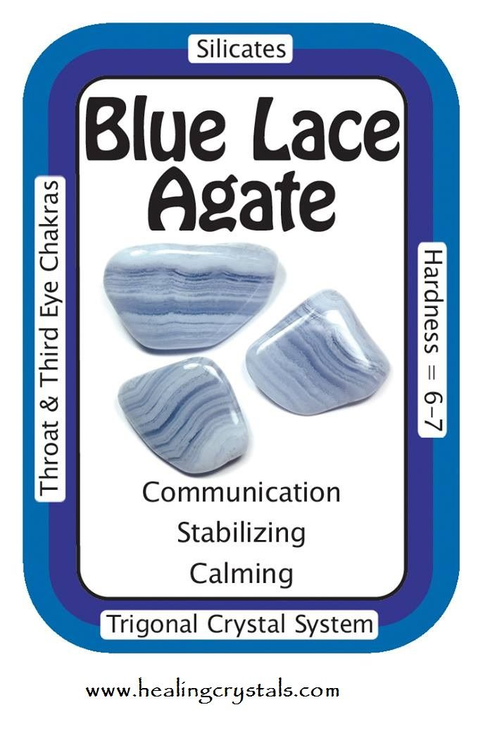 Blue Lace Agate is great for activating and healing the Throat Chakra and for…