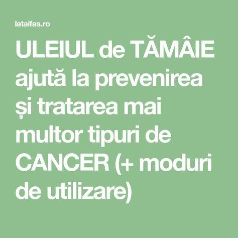 ULEIUL de TĂMÂIE ajută la prevenirea și tratarea mai multor tipuri de CANCER (+ moduri de utilizare)