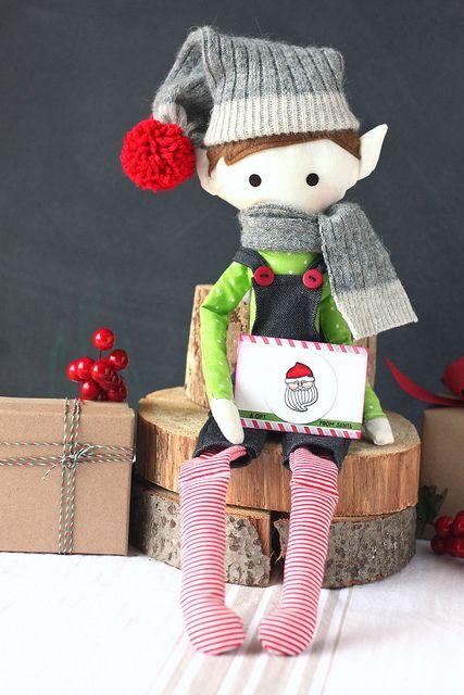 Handmade Elf on the Shelf…  Using Clear & Simple Stamps, Rag Doll Dies…  Love it!