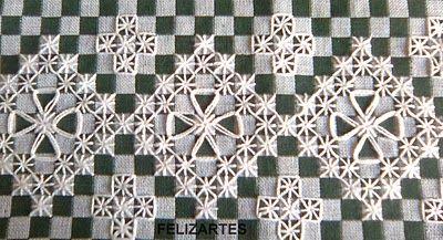 Bordado em pano xadrez