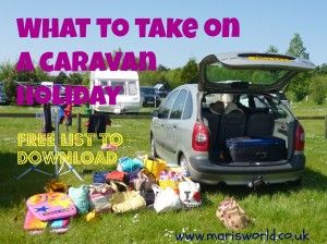 What to take on a caravan holiday? To make sure you don't forget anything download this handy tick sheet and pack as you go, use again and again
