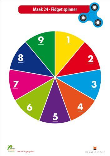 Maak 24 met de Fidget spinner! - Menne Instituut - Met Sprongen Vooruit