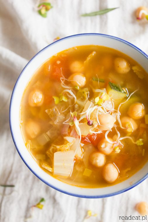 Vegan minestrone with