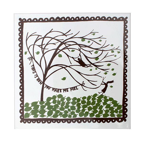 'Windy Tree' Ceramic Tile