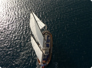 Blue Cruise activities: Sailing with a luxury gulet