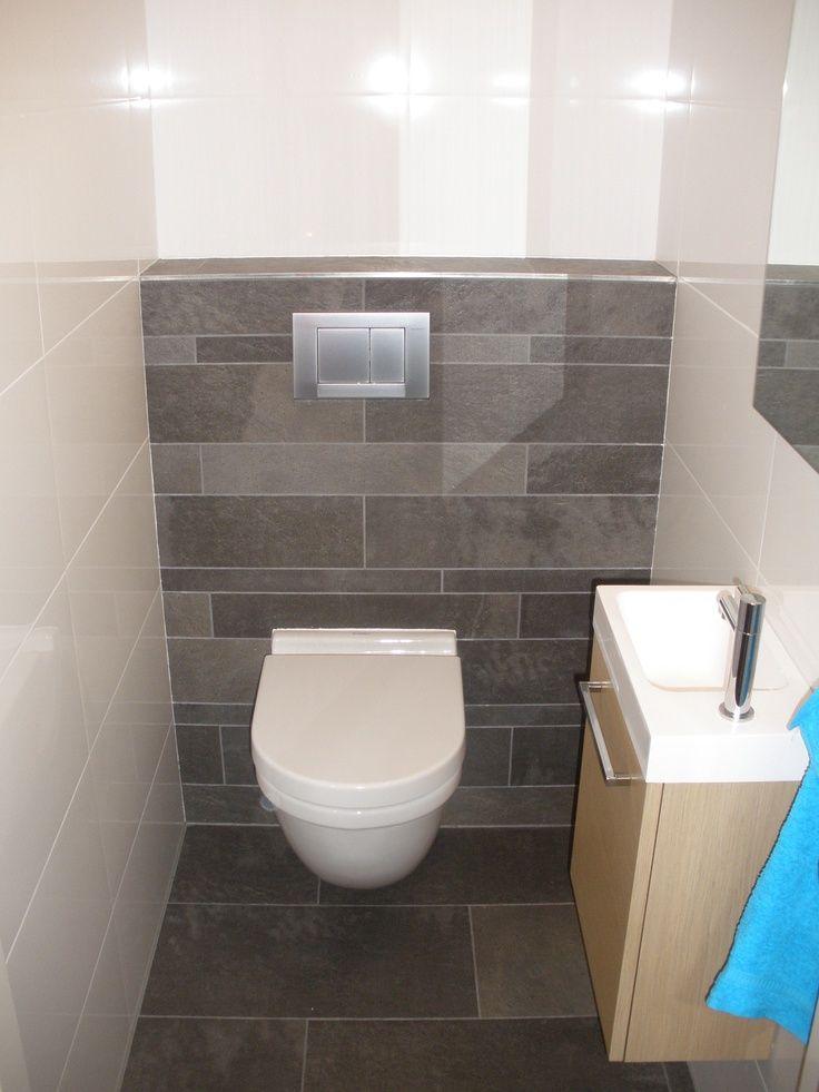 Tegels Voorbeeld Toilet Modern Toilet Toilet Verbouwing