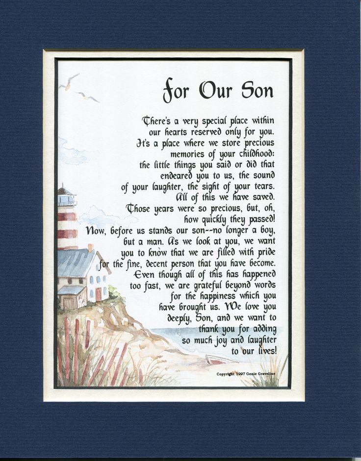 Admirable For Our Son Grown Children Sons Poems Personalised Birthday Cards Veneteletsinfo