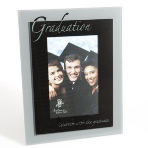 "Black & Silver Graduation Picture Frame by Century Novelty. $11.98. Save Memorable Moments with a Graduation Picture Frame! A graduation picture frame is the perfect gift for the graduate. A perfect keepsake for the graduate to commemorate their achievement. 9"" long and 7"" wide frame. 4"" x 6"" picture holder. Black and silver frame with ""Graduation Celebrate with the graduate"" print. A graduation picture frame makes a great gift for the grad, as well as great dec..."