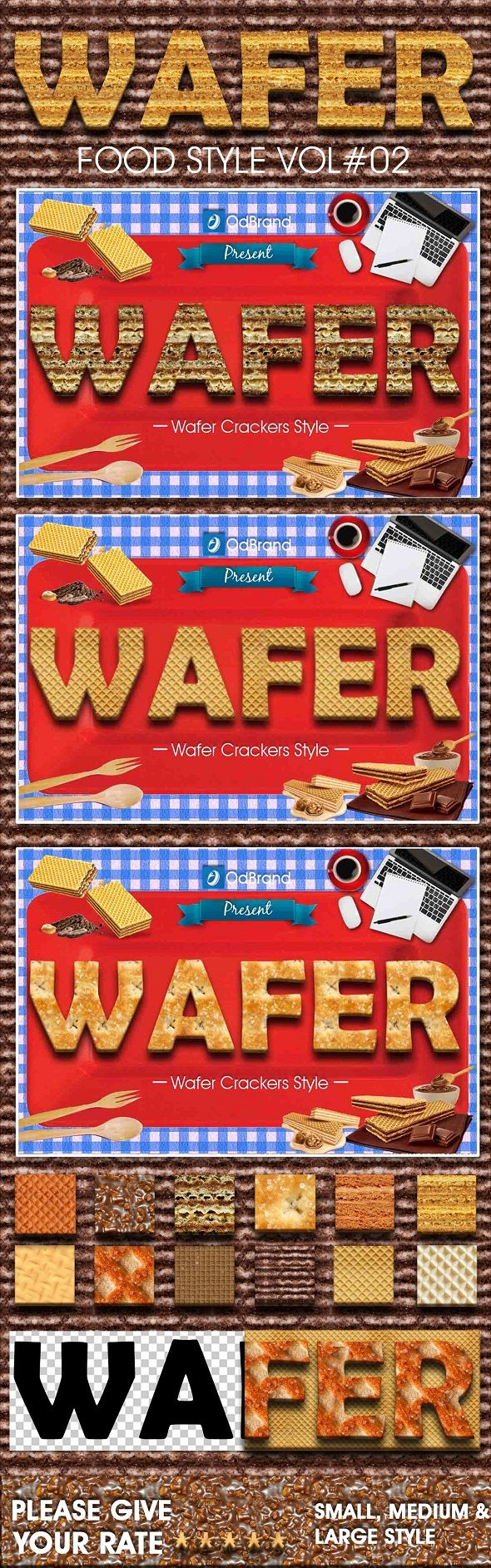Wafer Cracker Style - Text Effects Actions