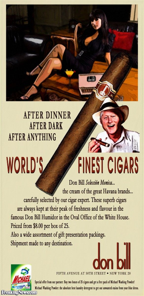 Too funny - Hillary Furious ~ American's Send Thousands of Cigars to Her Office!                                                                                                                                                                                 Plus