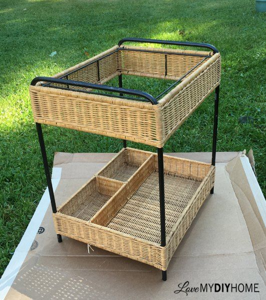 the wicker woes re purpose that ugly thing , painted furniture, painting, repurposing upcycling