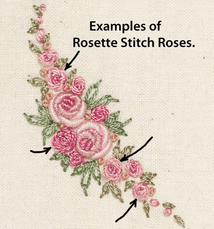 Rosette stitch country bumpkin rosa vicgtoriana edition
