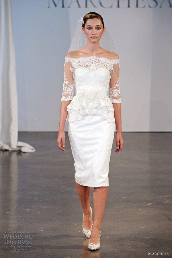 11 best short wedding dresses images on pinterest for Short spring wedding dresses