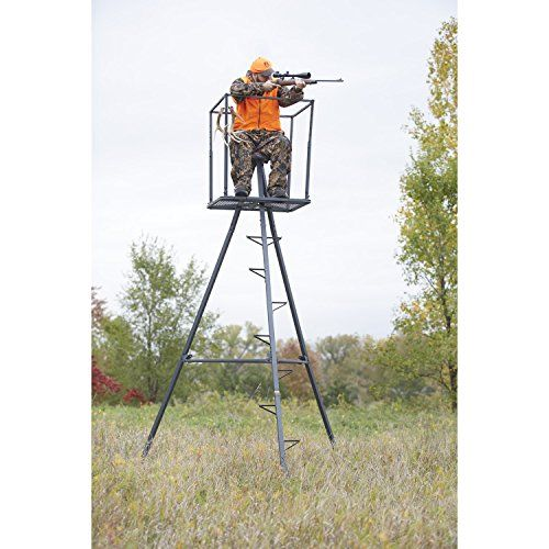 Guide Gear 13' Deluxe Tripod Deer Stand   http://huntinggearsuperstore.com/product/guide-gear-13-deluxe-tripod-deer-stand/