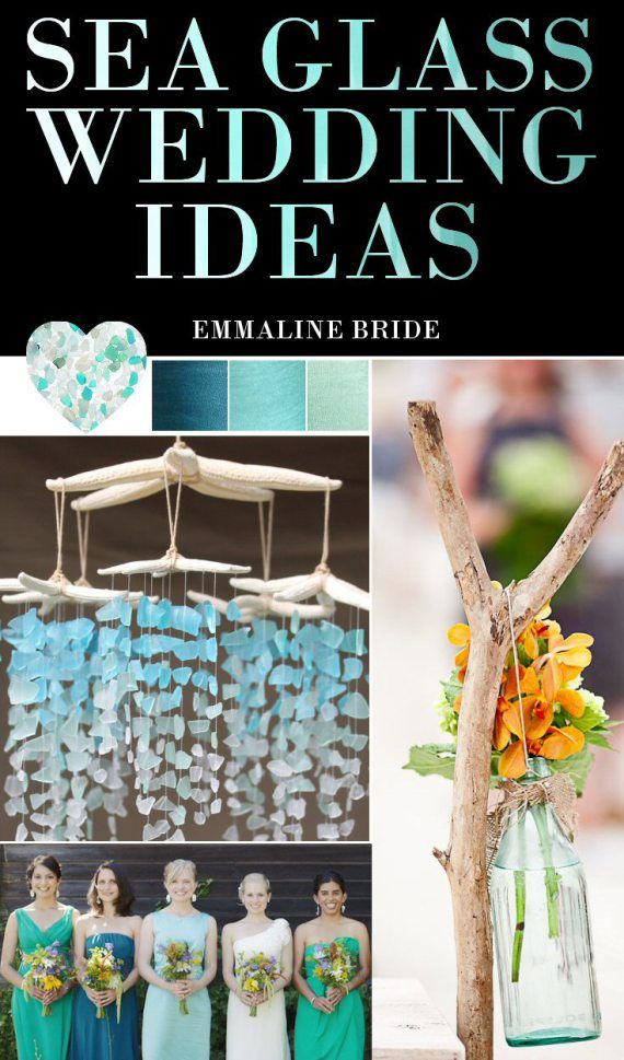 Sea Glass Wedding Ideas / Inspiration | http://emmalinebride.com/beach/sea-glass-wedding-ideas/