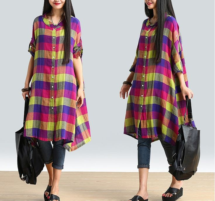 women cotton linen loose fitting summer shirt with colorful patterns.Amazing look for a good day.Do wanna own it??? let's have a look.welcome to buykud.com