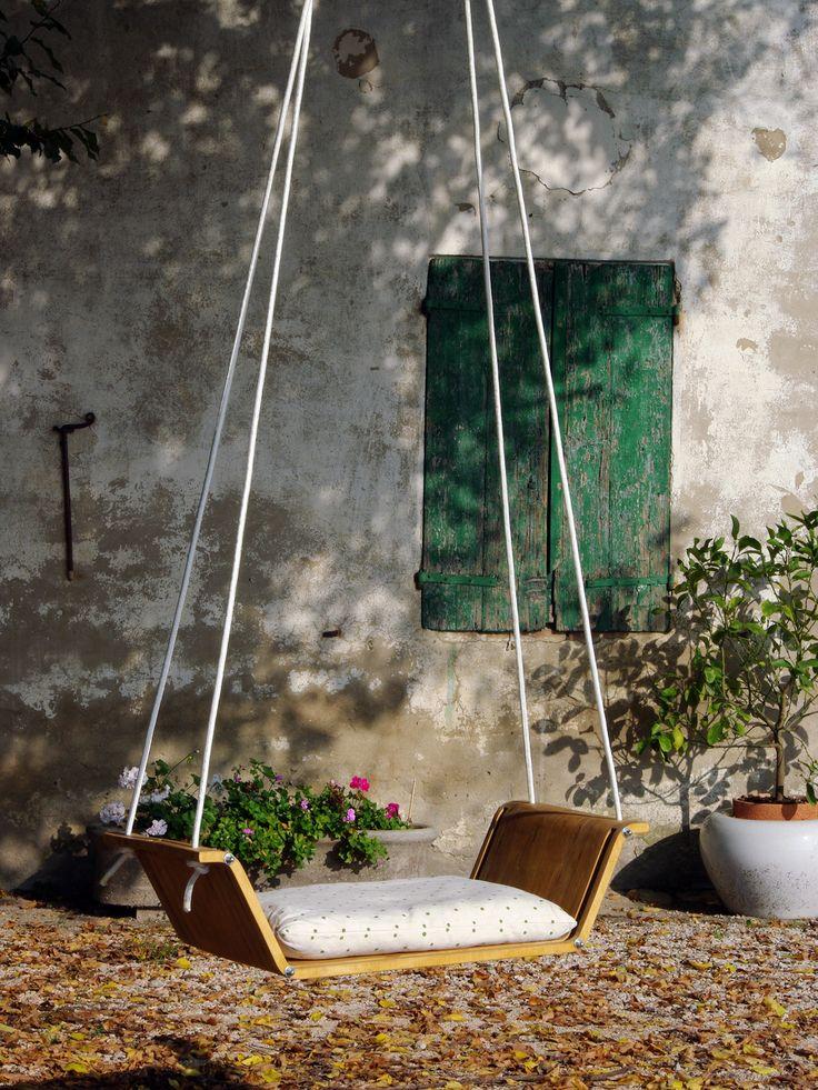 Culla Altalena Ninnananna By Officina Design [www.viadurini.it]