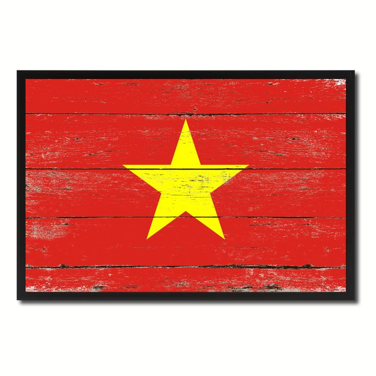 Vietnam Country National Flag Vintage Canvas Print with Picture Frame Home Decor Wall Art Collection Gift Ideas