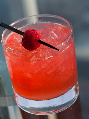 Extra Dry Rum ½ oz. lemon juice ½ oz. simple syrup 4 raspberries ...